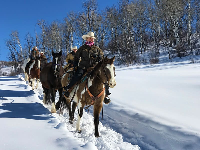 Horse riding in Steamboat, Steamboat, Colorado, Del's Triangle 3 Ranch, Yampa Valley, Strawberry Park Hotsprings
