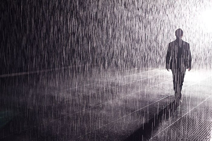 Striking art installation Rain Room debuts in Melbourne