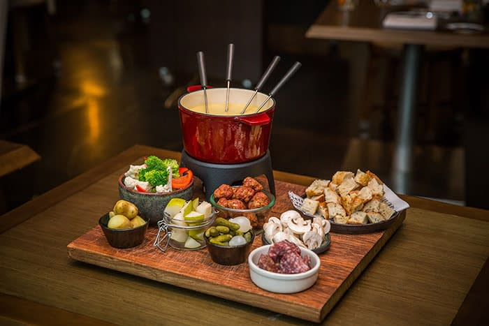 Enjoy traditional Swiss cheese fondue in Sydney